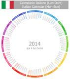 2014 Italiener-Kreis-Kalender Montag-Sun stock abbildung