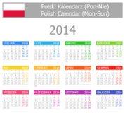 2014 kalendarz Sun Polski typ Zdjęcia Royalty Free