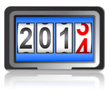 2014 New Year counter. Vector Stock Photos