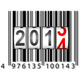 2014 New Year counter, barcode. Vector Royalty Free Illustration