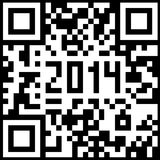 2014 New Year counter, QR code. Vector vector illustration