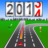 2014 New Year counter, vector. Stock Photo