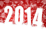 2014 new year illustration with snowflakes. 2014 new years illustration with snowflakes on red background Stock Photo
