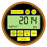 2014 New Year modern digital gas manometer Stock Photo