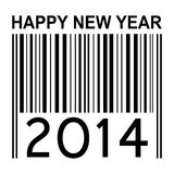 2014 new years illustration with barcode. 2014 new year illustration with barcode isolated on white background Stock Photos