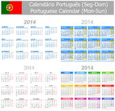 2014 Portuguese Mix Calendar Mon-Sun Royalty Free Stock Images