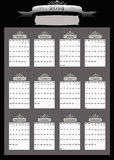 2014 Professional Business Calendar. Professional looking Black and Silver 2014 calendar with blank place for your business name or information Stock Photos