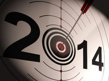 2014 Projection Target Shows Profit And Growth Royalty Free Stock Image