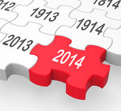 2014 Puzzle Piece Shows New Year's Resolutions stock illustration