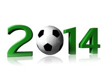 2014 soccer logo. It's a big 2014 soccer logo on a white background stock image