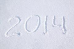 2014 sulla neve Fotografia Stock Libera da Diritti