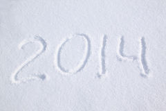 2014 sur la neige Photographie stock libre de droits