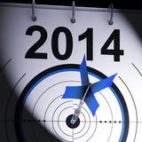 2014 Target Means Business Plan Forecast. 2014 Target Meaning Business Plan Progress Forecast Royalty Free Stock Photography