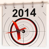 2014 Target Means Future Goal Projection. 2014 Target Meaning Future Growth Goal Projection Royalty Free Stock Photography