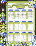 2014 Unique Floral Design Calendar Stock Photos