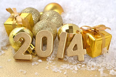 2014 Year Golden Figures Royalty Free Stock Images