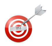 2014 year on the target. illustration design Stock Image