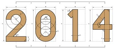 2014 Year Technical Project Design Royalty Free Stock Image