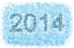 2014 year title, frosty snowflakes. 2014 year title, frosty blue snowflakes alphabet on white background Vector Illustration
