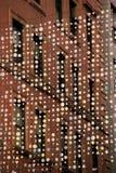 垂悬在波士顿,大量, 2014年12月街道上的艺术品的美好的例子  免版税库存照片