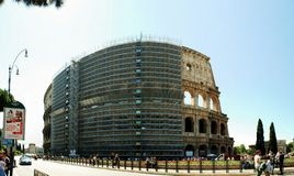 罗马市老中心看法2014年6月1日的 免版税库存照片