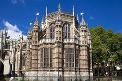 伦敦,英国- 2014年6月14日:威斯敏斯特修道院 库存照片