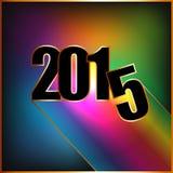 Счастливый Новый Год 2015 с радугой Стоковые Изображения RF
