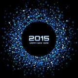 蓝色明亮的新年2015年背景 免版税库存照片