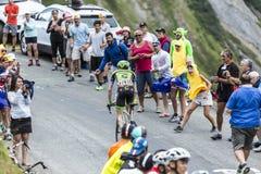 骑自行车者丹马丁-环法自行车赛2015年 库存图片