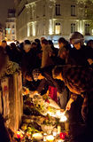 Το Νοέμβριο του 2015 επίθεσης τρόμου του Παρισιού Στοκ εικόνα με δικαίωμα ελεύθερης χρήσης