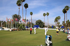 Зеленый цвет установки на воодушевленности АНАА играет в гольф турнир 2015 Стоковое фото RF