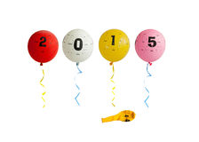 2015 Balloons Royalty Free Stock Photography