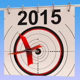 2015 Calendar Means Planning Annual Agenda Schedule Royalty Free Stock Photography