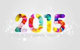 2015 Colorful Greeting Card. Happy New Year 2015 Colorful Greeting Card Royalty Free Stock Image