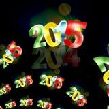 2015 modern look. Black background Stock Photos