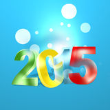 2015 modern look. Blue background Royalty Free Stock Photos