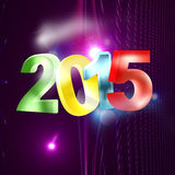 2015 modern look. Lights background Stock Photos