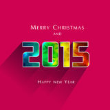 2015 New Year. Abstract Polygonal 2015 New Year with long shadow Stock Photos
