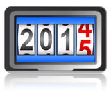 2015 New Year counter, vector illustration. Stock Photos