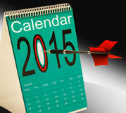 2015 Schedule Calendar Shows Two Thosand Fifteen Stock Photography