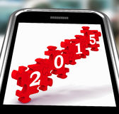2015 On Smartphone Showing Future Celebrations. And Festivities royalty free illustration