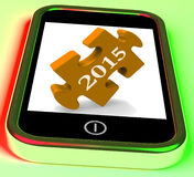 2015 On Smartphone Shows Future Plans For New Year. 2015 On Smartphone Showing Future Plans For New Year Stock Photography