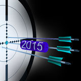 2015 Target Shows Successful Future Growth. 2015 Target Showing Successful Future Growth And Goals Stock Image