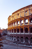 罗马圆形露天剧场在2015年1月5日的罗马 圆的长圆形 免版税库存图片