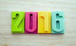 新年快乐2016年 免版税图库摄影