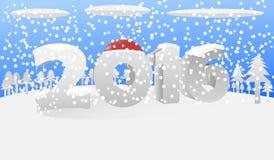 2016雪 向量例证