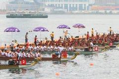 香港国际龙舟赛2016年 库存图片
