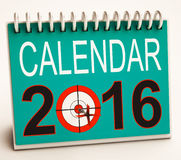 2016 Calendar Shows Future Target Plan Royalty Free Stock Photography