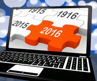 2016 On Laptop Shows Future Technology Royalty Free Stock Photos