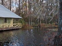 2016 Mill Pond Boathouse Stock Photo